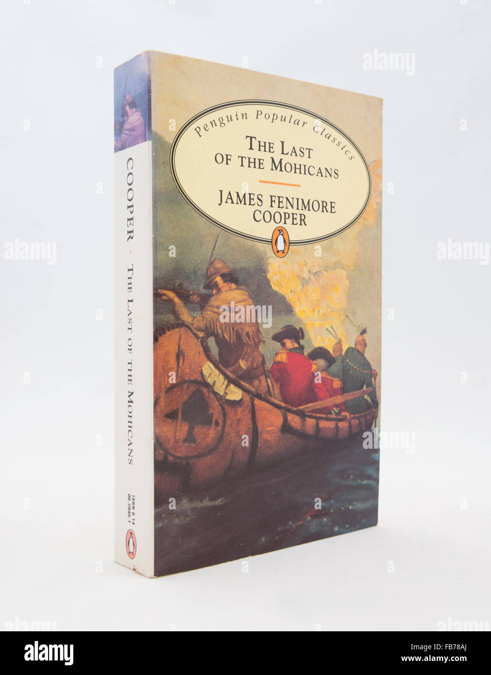 'The Last Of The Mohicans' (1826) by James Fenimore Cooper. A historical novel set in 1757 during the French - Stock Image