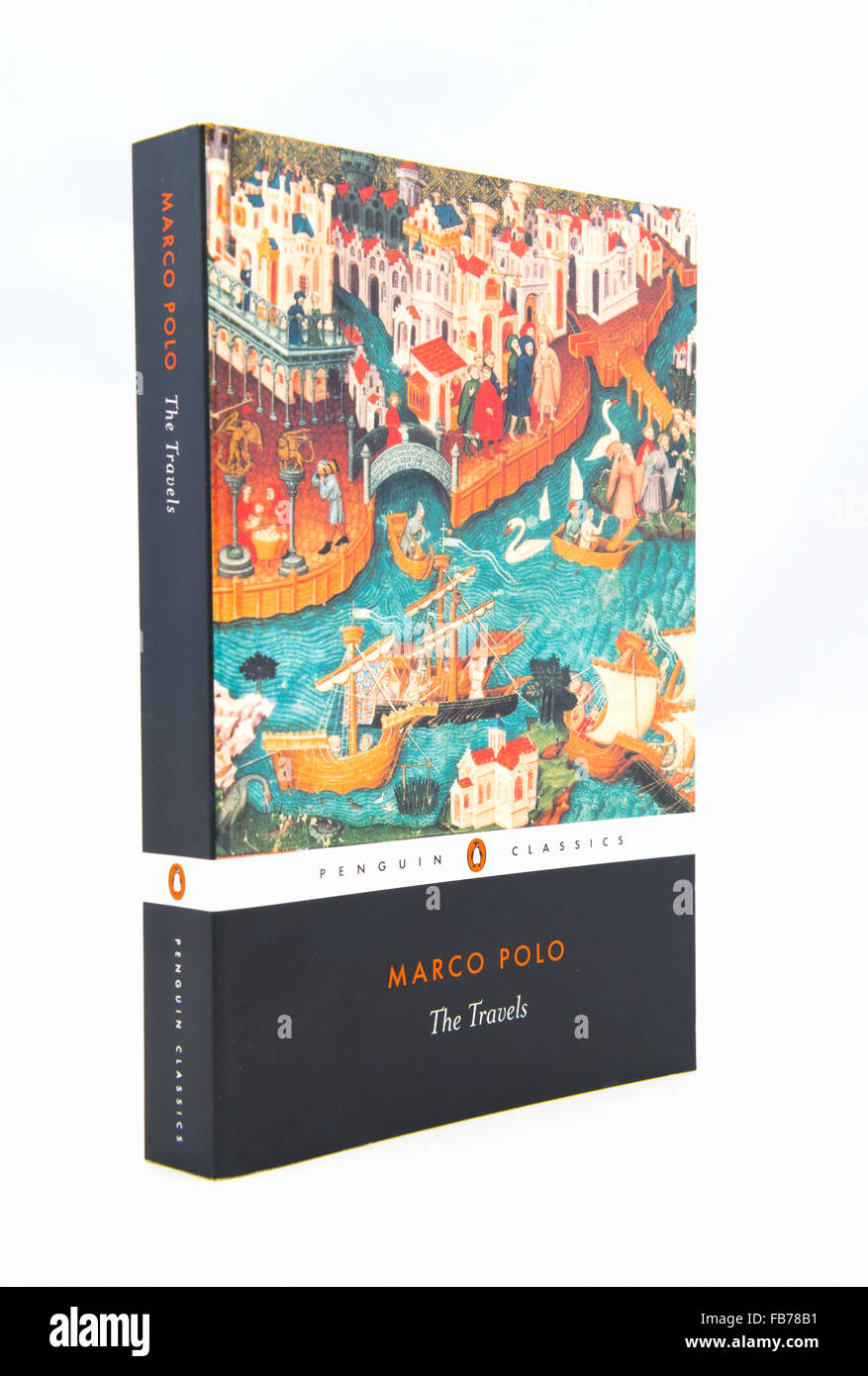 Marco Polo - The Travels. 13th-century travelogue written down by Rustichello da Pisa from stories told by Marco - Stock Image