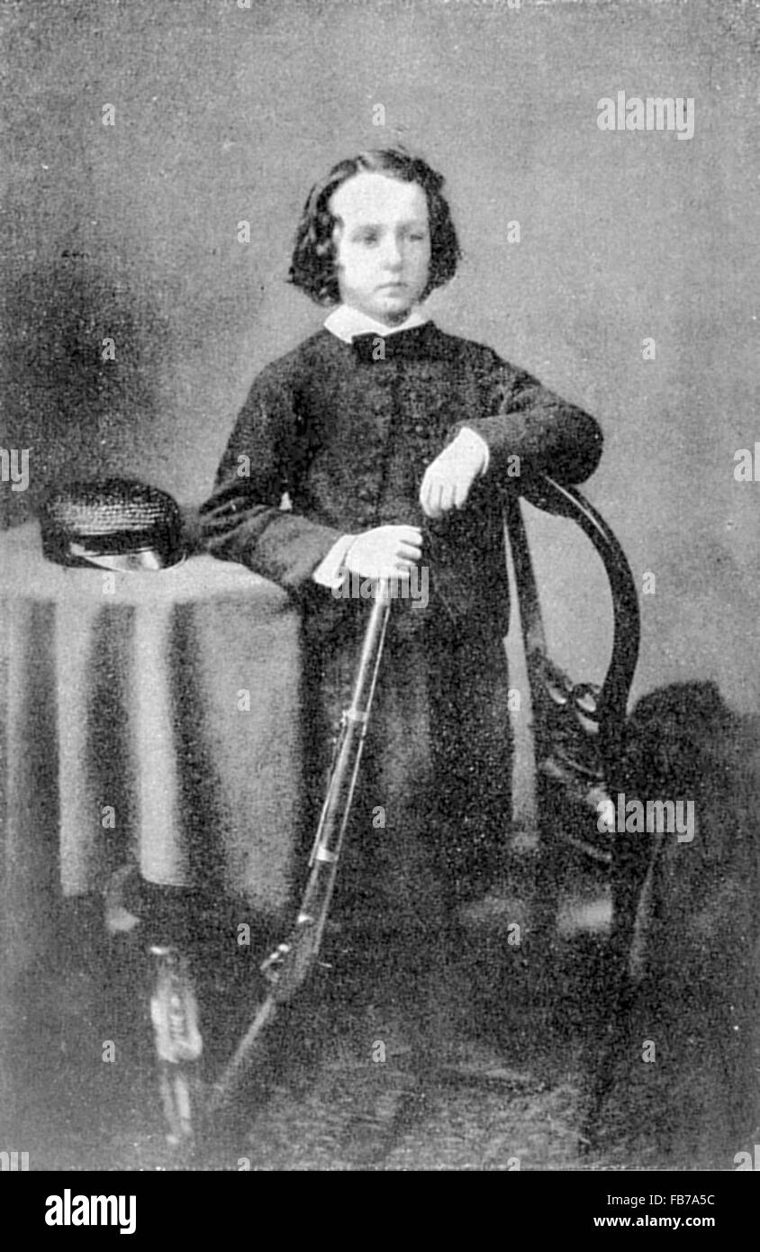 Cecil John Rhodes, as a boy, a British colonial-era businessman, mining magnate, and politician in South Africa. - Stock Image