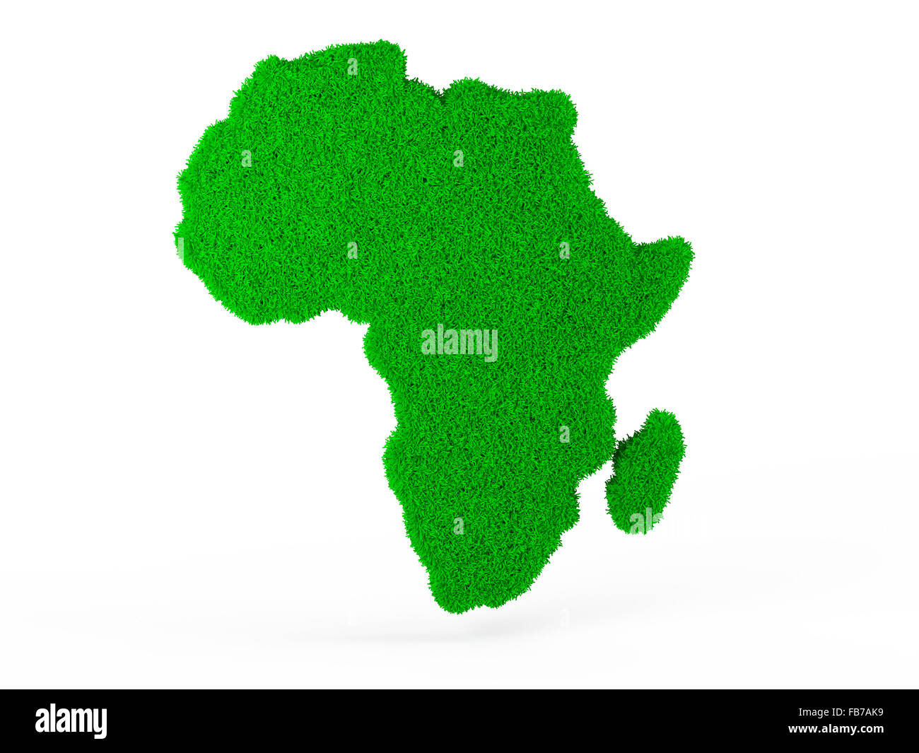 symbol 3d global environmental problems grass map of africa