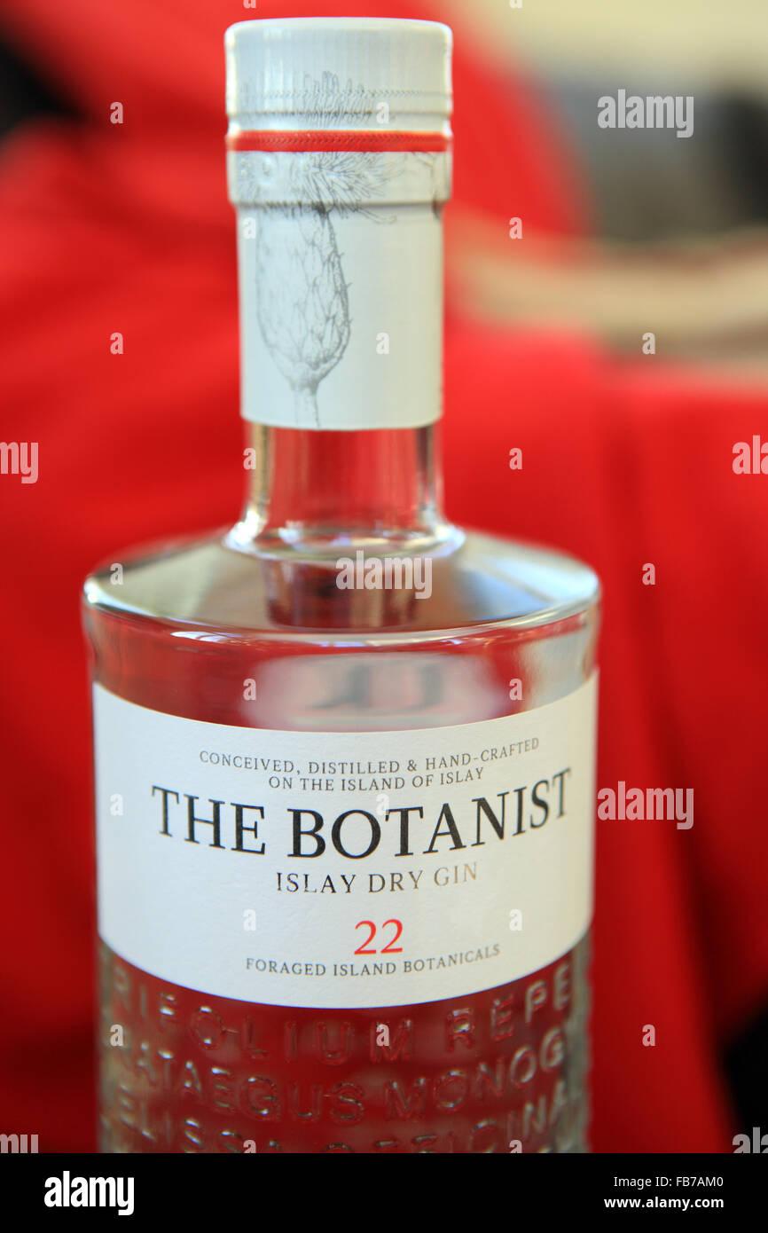 The Botanist Islay Dry Gin - Stock Image