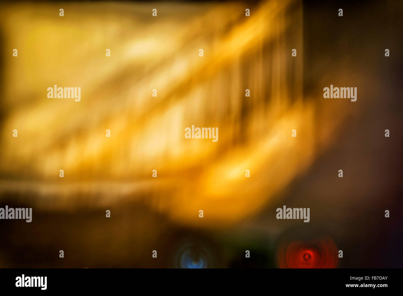 Abstract blue yellow blurred background - Stock Image