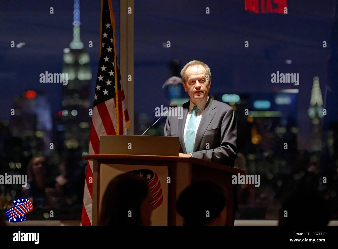 Australian opposition leader Bill Shorten at Australian American Leadership Dinner at the New York Academy of Sciences. - Stock Image