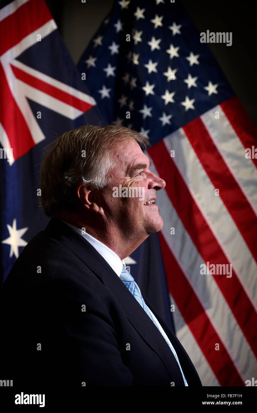 Australian Ambassador to the United States Kim Beazley pictured at the Embassy in Washington D.C.  - pic by Trevor - Stock Image