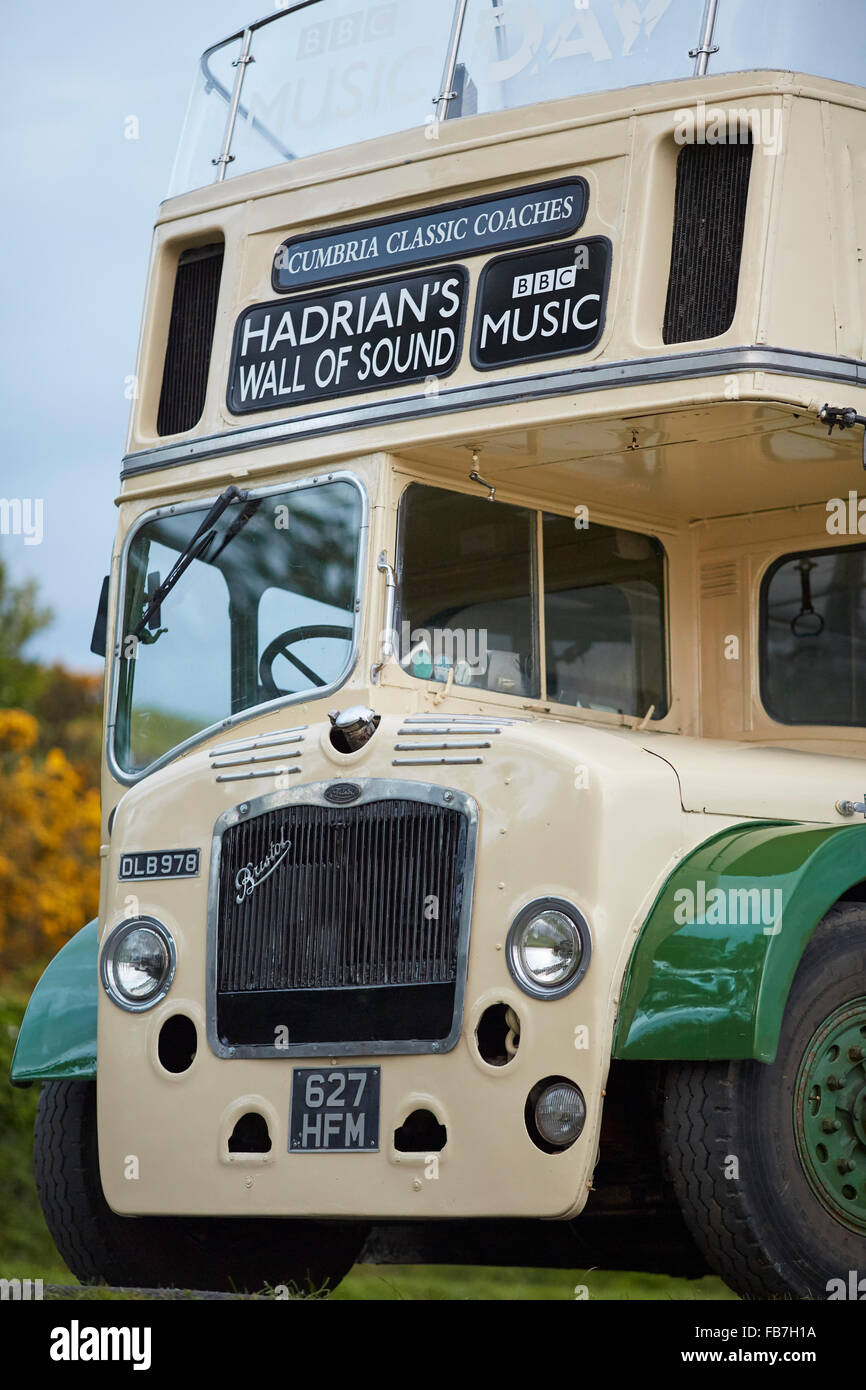 BBC Music day 'for the love of music'  Hadrian's Wall of Sound 2015 at Bowness on Solway marshes   1959/1973 - Stock Image