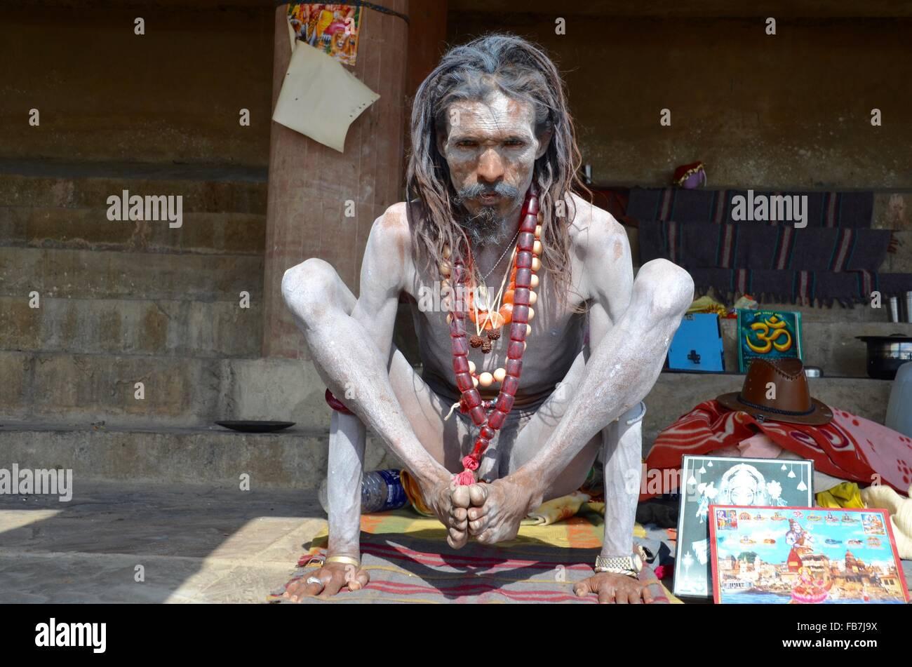 Sadhu Holy Man India - Stock Image