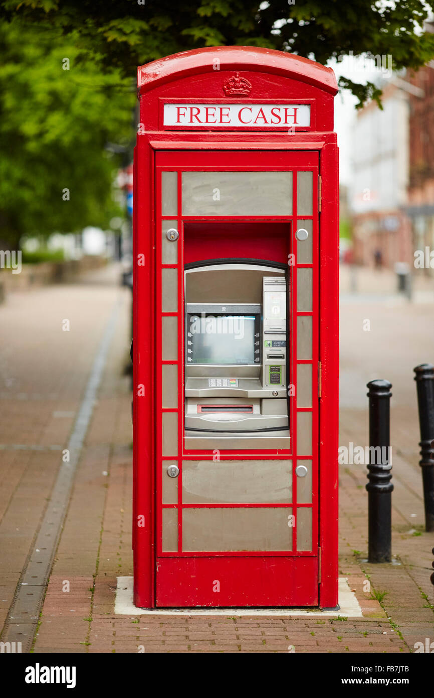 BBC Music day 'for the love of music'  Hadrian's Wall of Sound 2015 at Carlisle atm in a red telephone - Stock Image