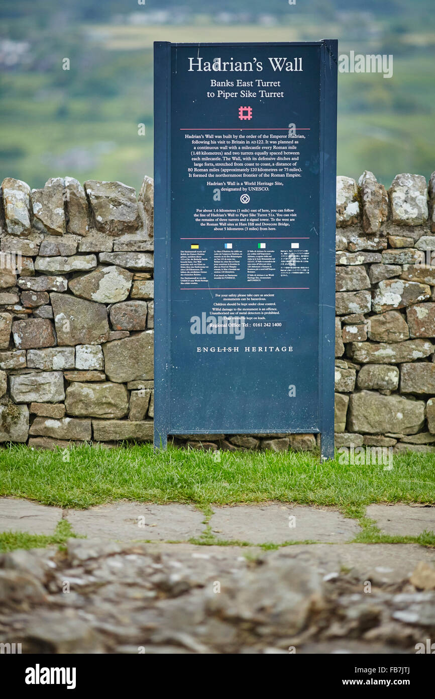 BBC Music day 'for the love of music'  Hadrian's Wall of Sound 2015 at sign for  from Banks East in Cumbria is the Stock Photo