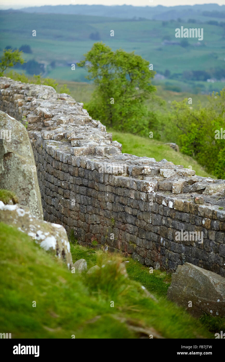 BBC Music day 'for the love of music'  Hadrian's Wall of Sound 2015 at English Heritage, Walltown Crags, - Stock Image