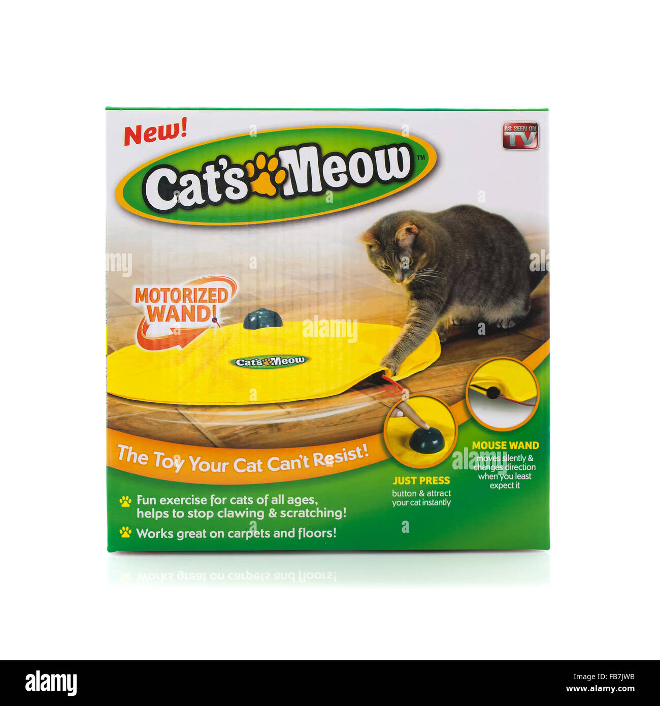 The Cats Meow Motorized Wand on a White Background - Stock Image