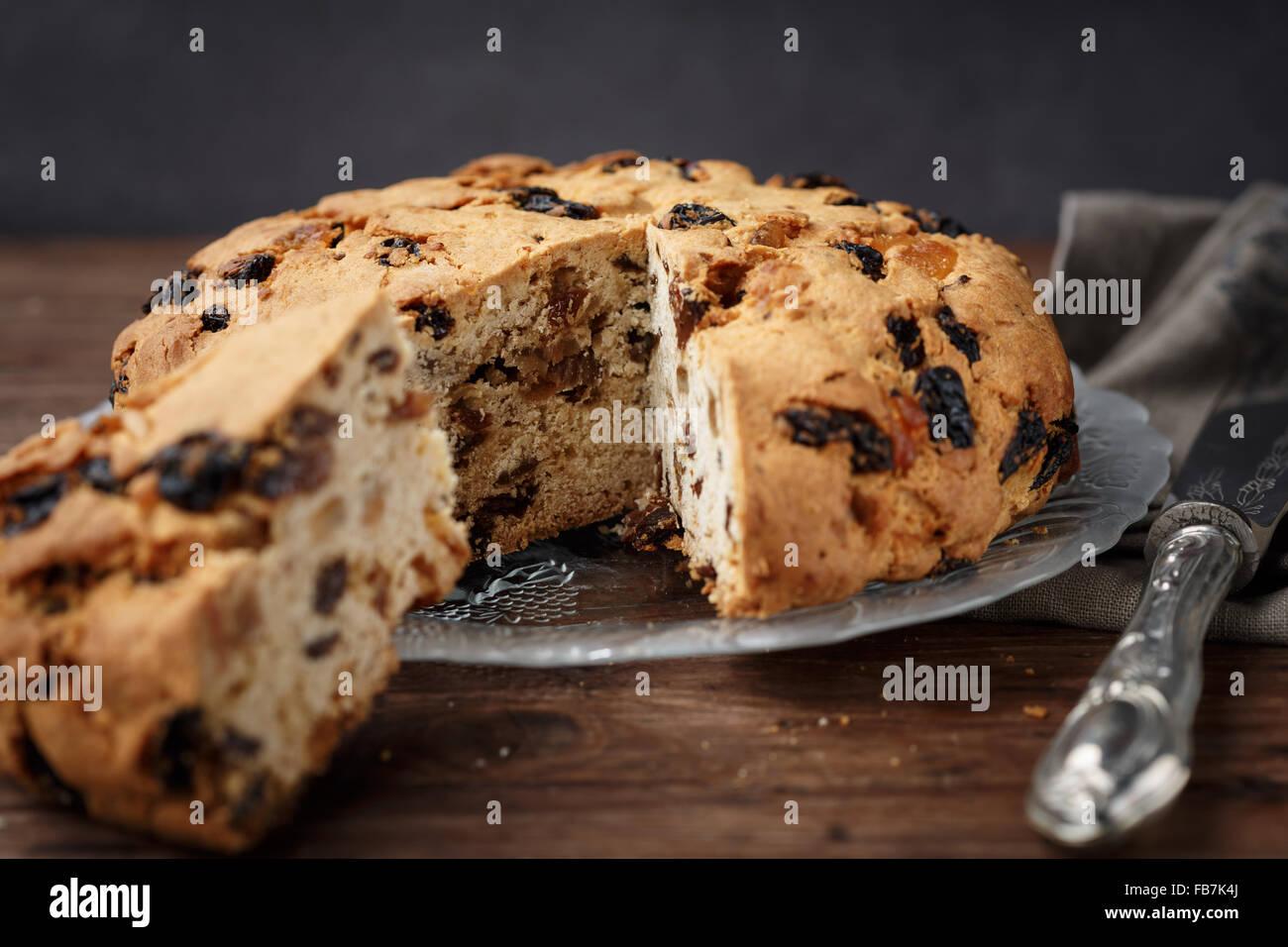 Pandolce Genovese (Genoa Cake) - Stock Image