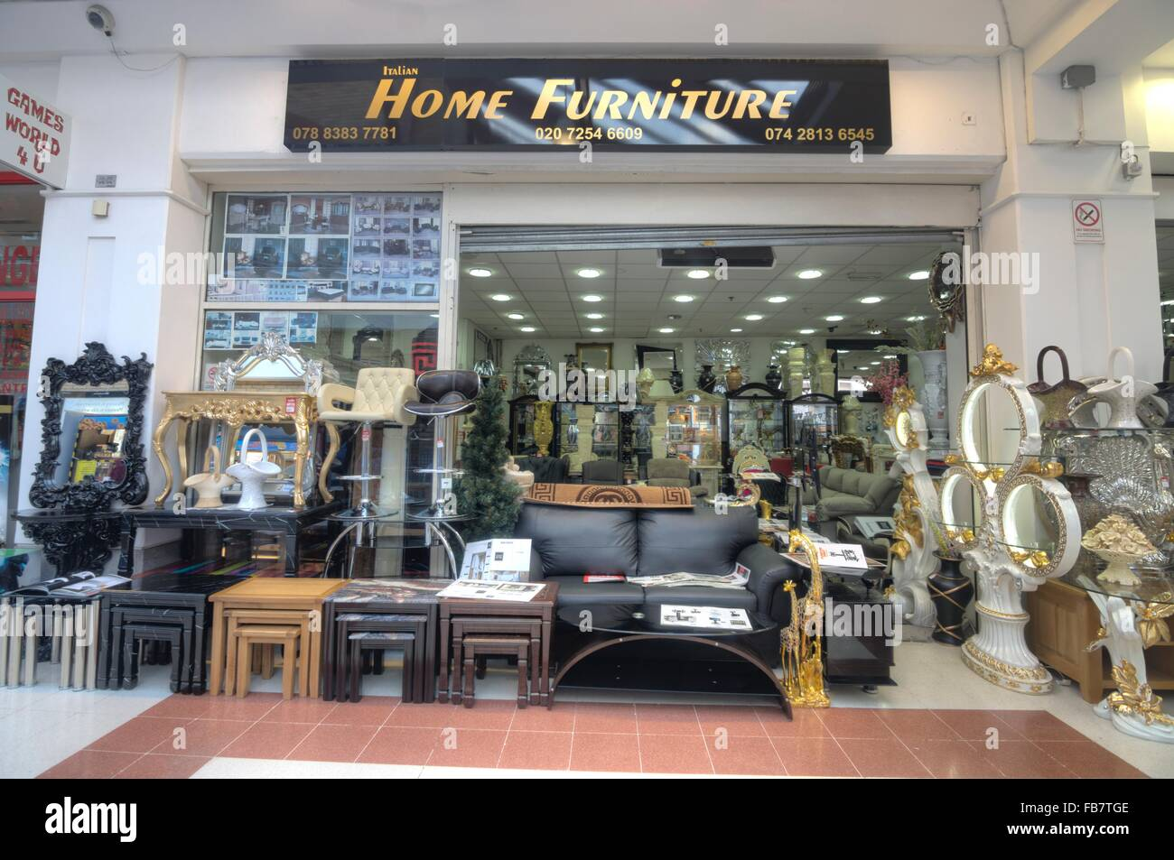 cheap furniture shop.   cheap furniture. - Stock Image