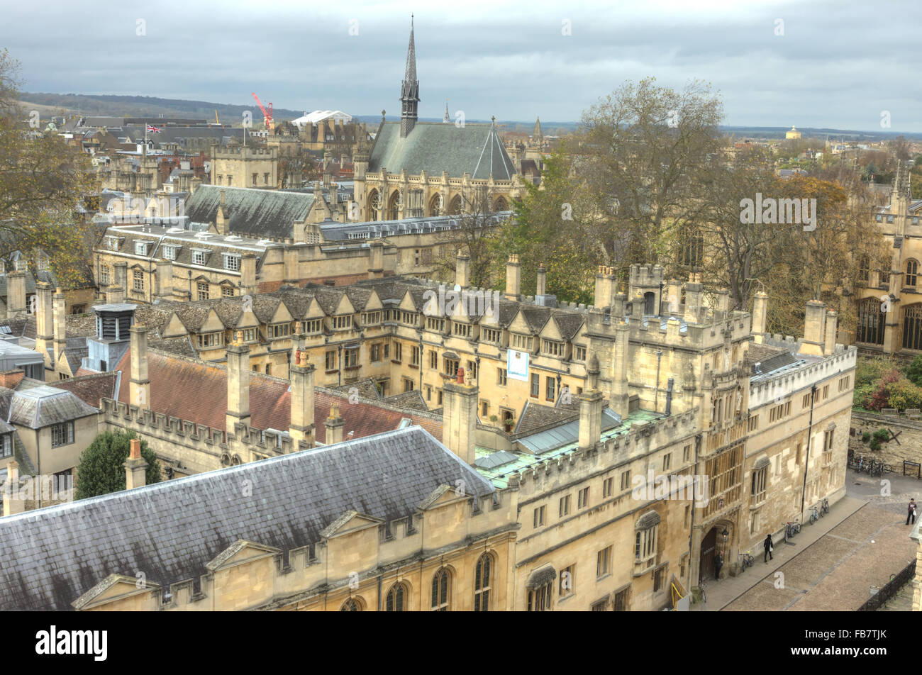 Brasenose college, University of Oxford - Stock Image