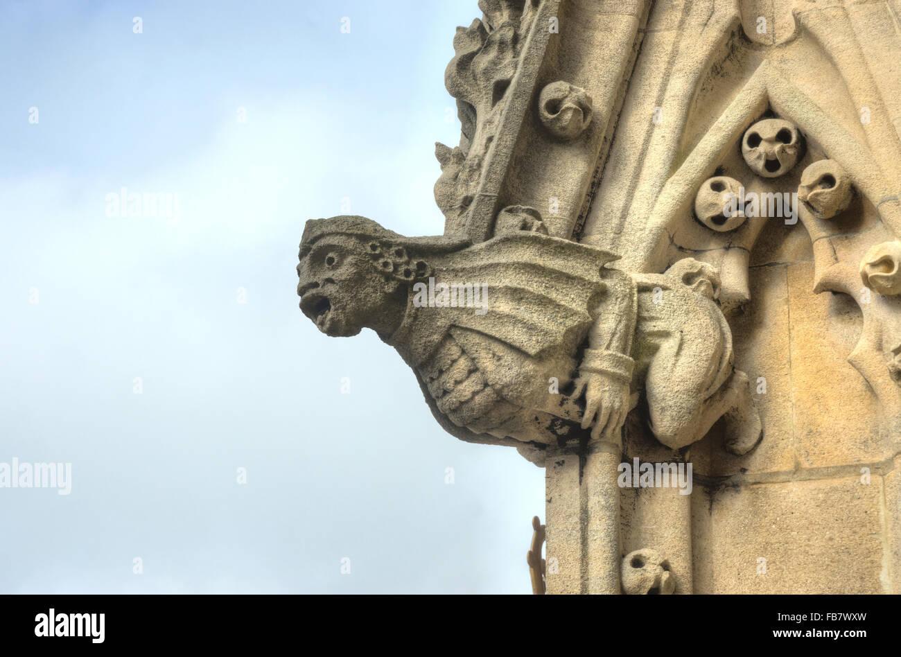 St Mary's Church Oxford Gargoyles  - Stock Image