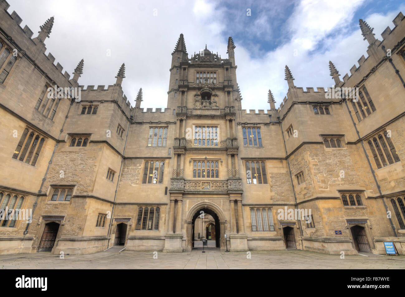 courtyard,  bodleian library oxford university - Stock Image