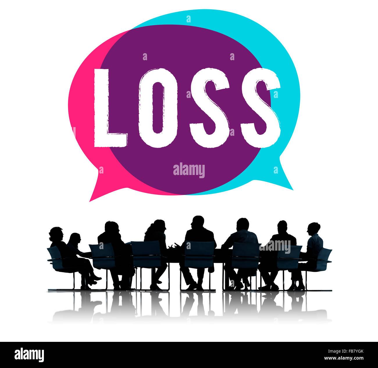 Loss Recession Deduction Financial Crisis Concept - Stock Image