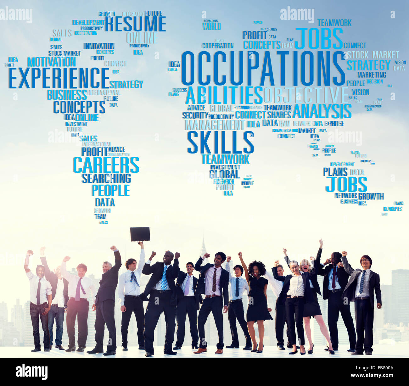 Occupations Careers Community Experience Global Concept - Stock Image