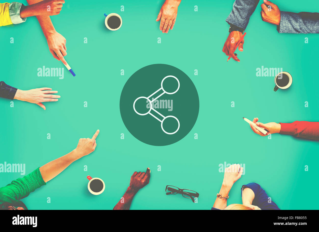 Share Connection Technology Sharing Global Communications Concept Stock Photo