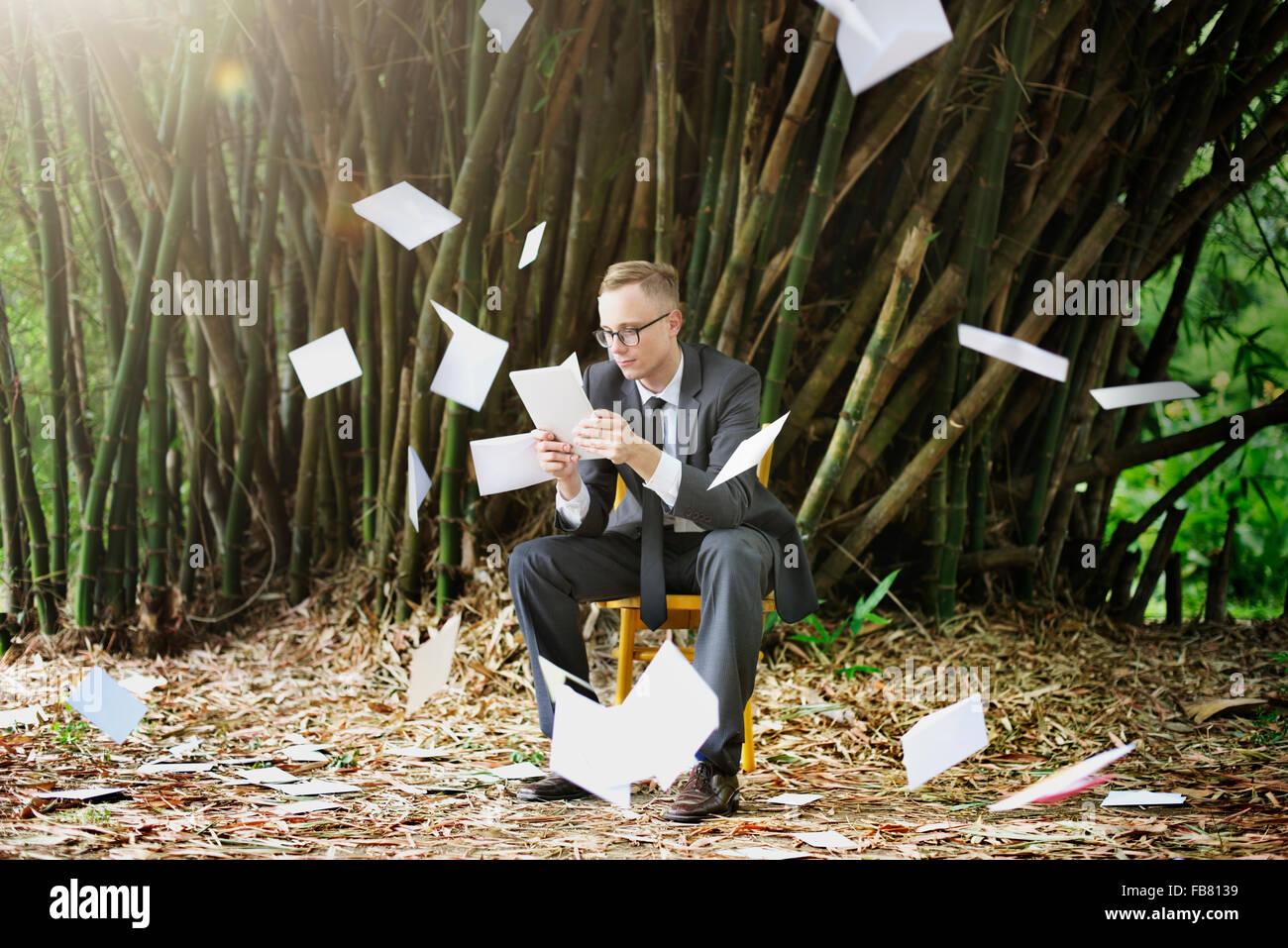 Businessman Stressful Sadness Failure Concept Stock Photo