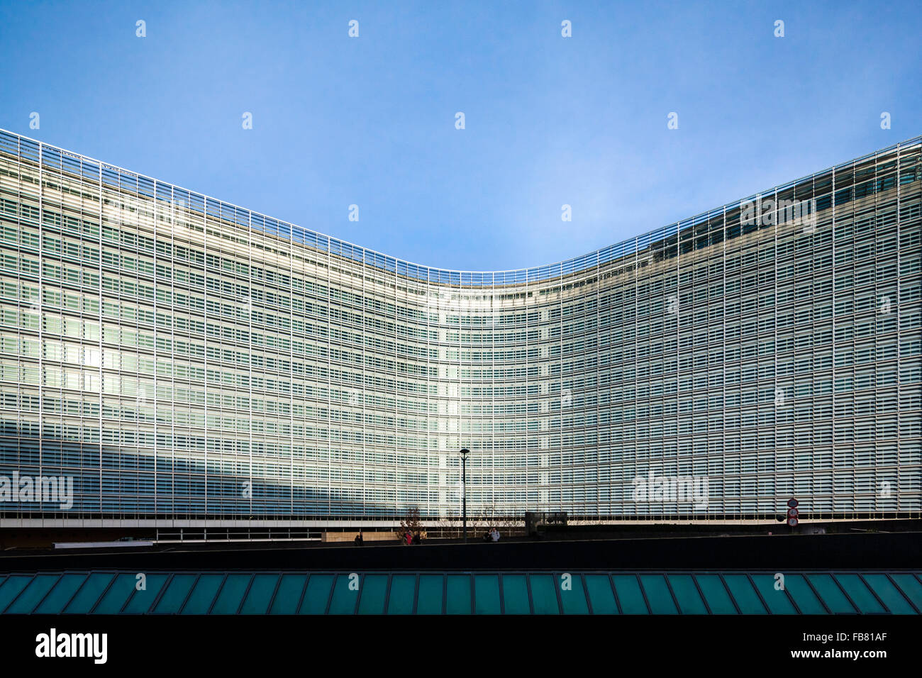 Brussels Berlaymont Building. Headquarters of the European Commission, EC, the executive of the European Union, - Stock Image