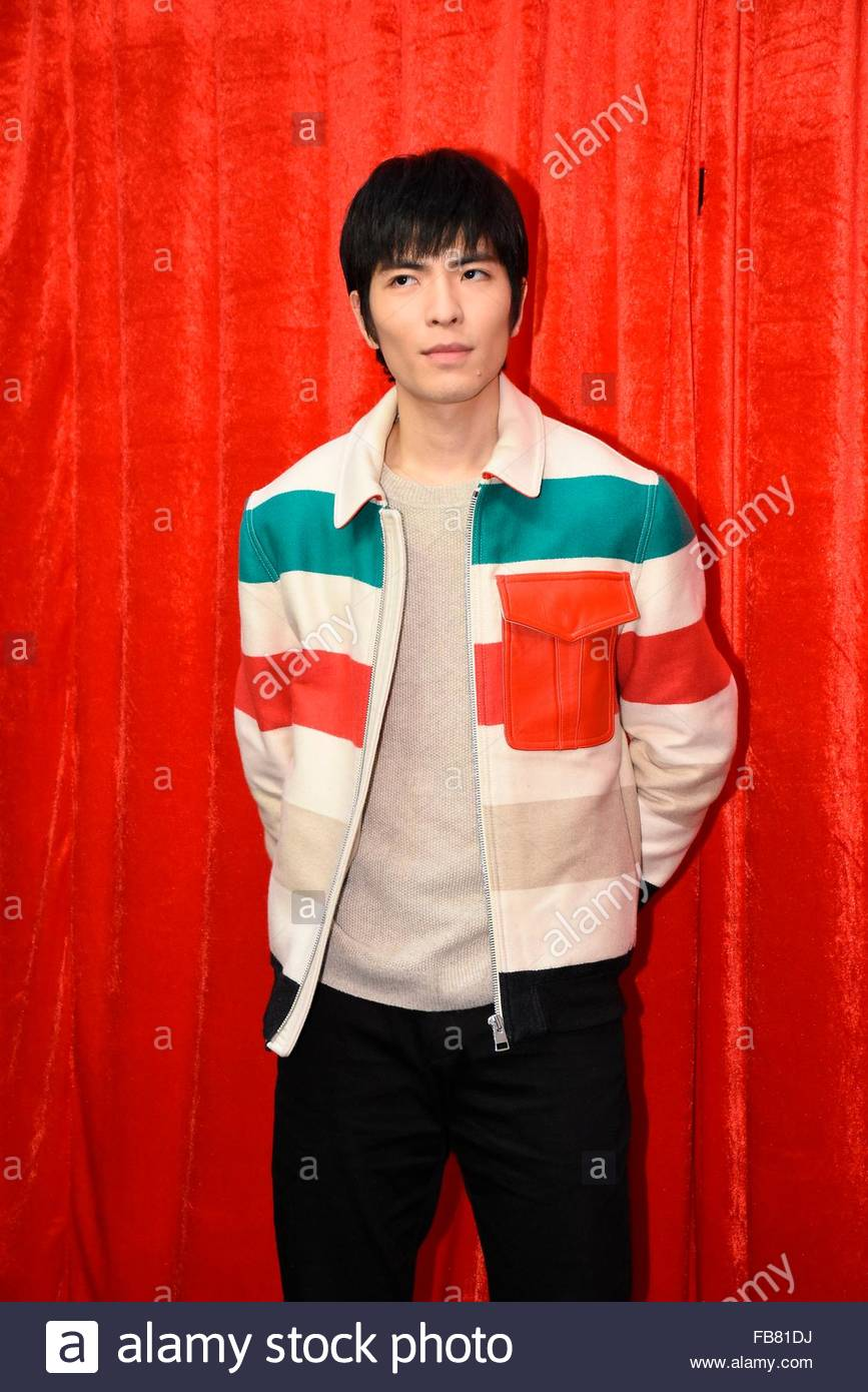 Taipei, Taiwan, China. 11th Jan, 2016. Jam Hsiao promotes his new album Reminiscence at Hito in Taipei, Taiwan, - Stock Image