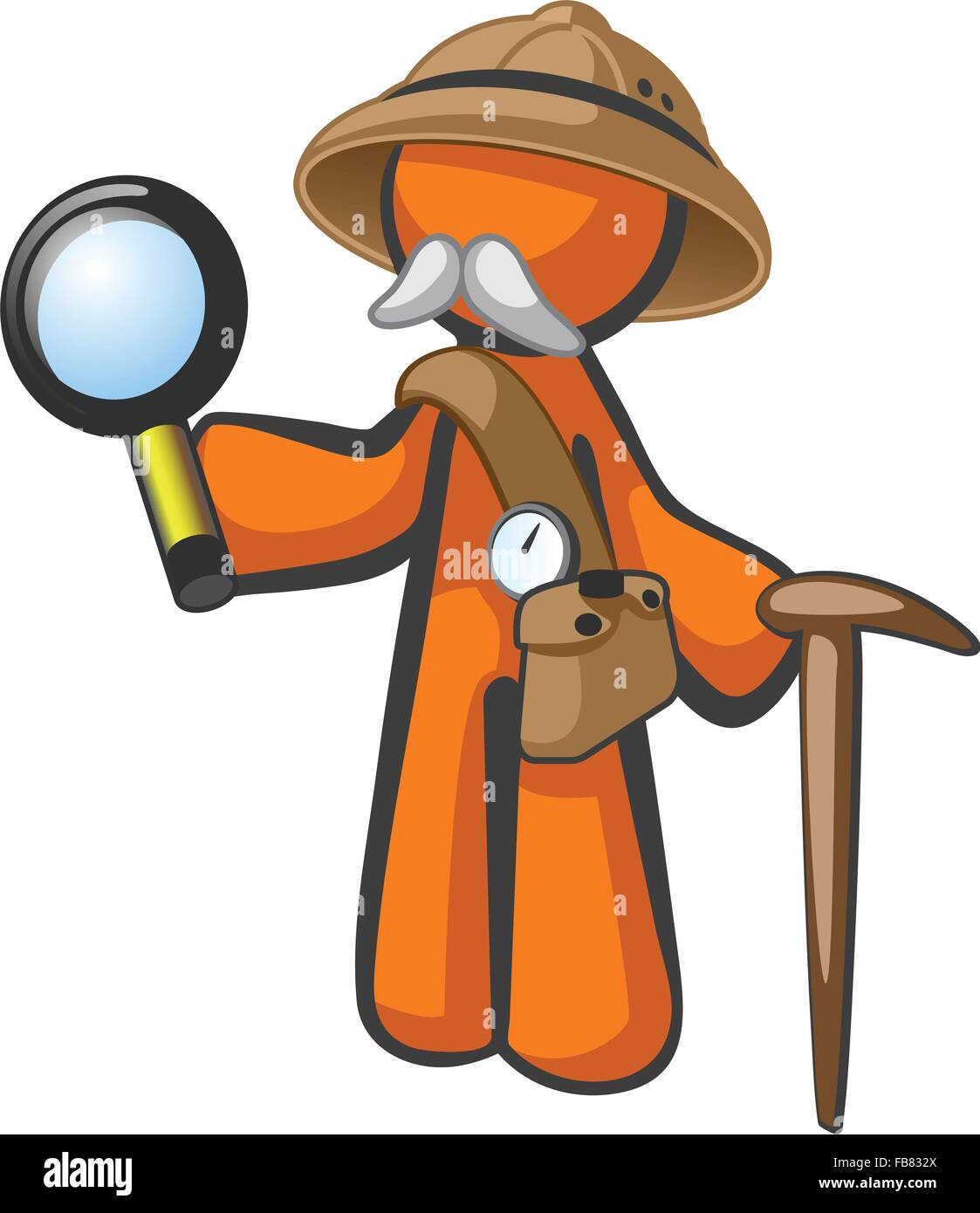 Doctor livingstone I presume? This orange man looks like the historical figure Dr Livingstone, but can also be a - Stock Vector