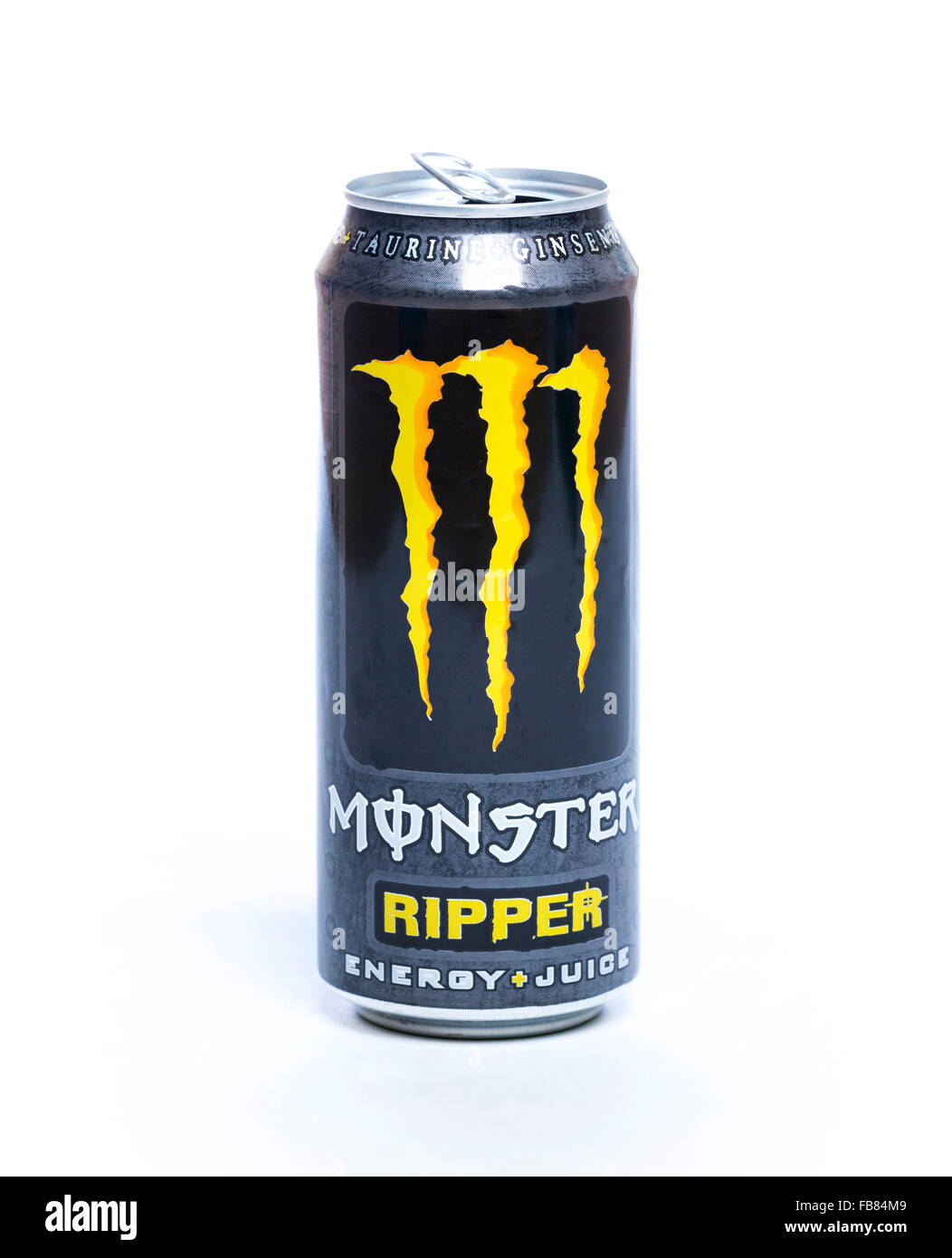 Drink Can From Blank Aluminum Stock Photo: Monster Energy Drink Stock Photos & Monster Energy Drink