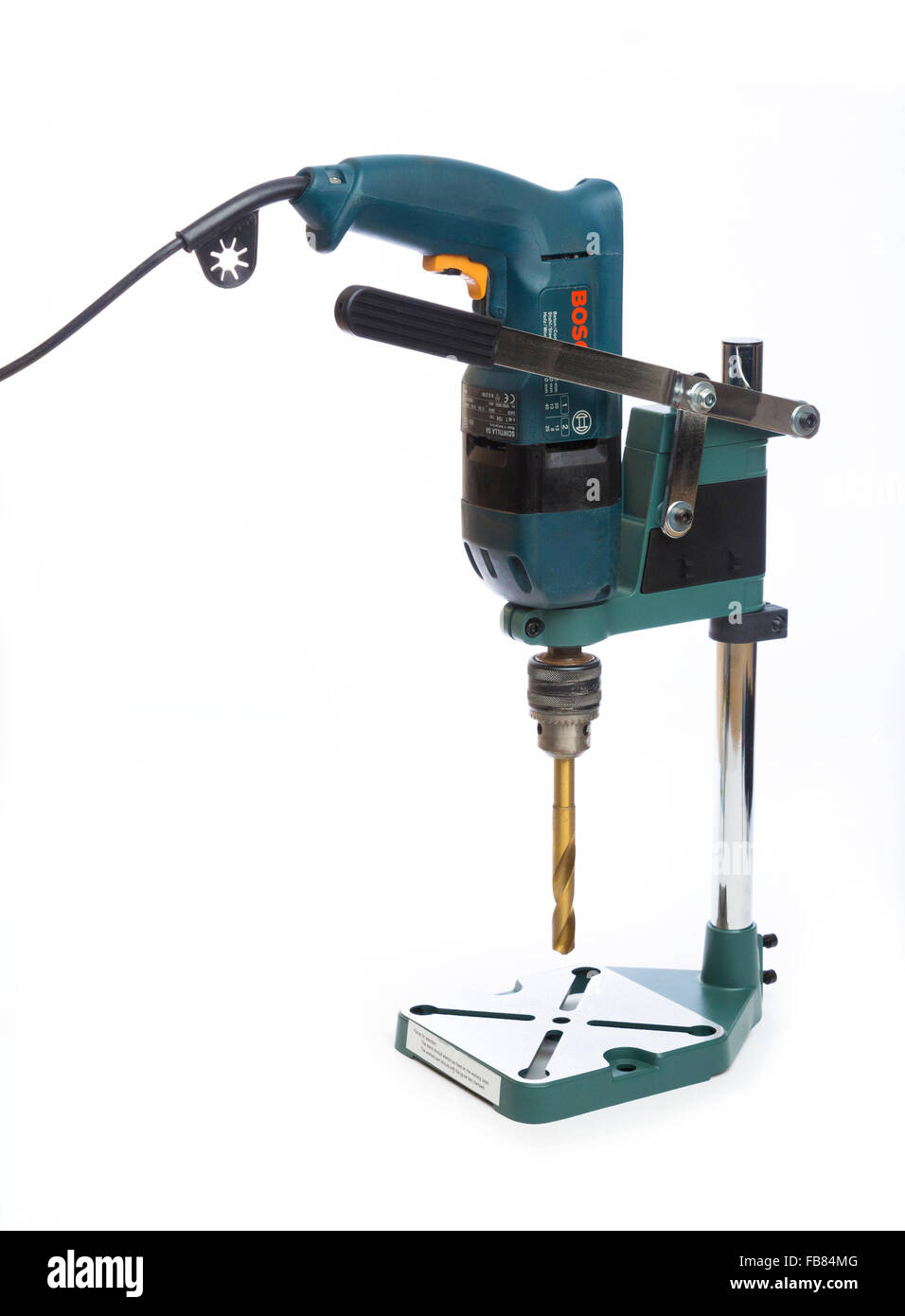 portable drill stand - Stock Image