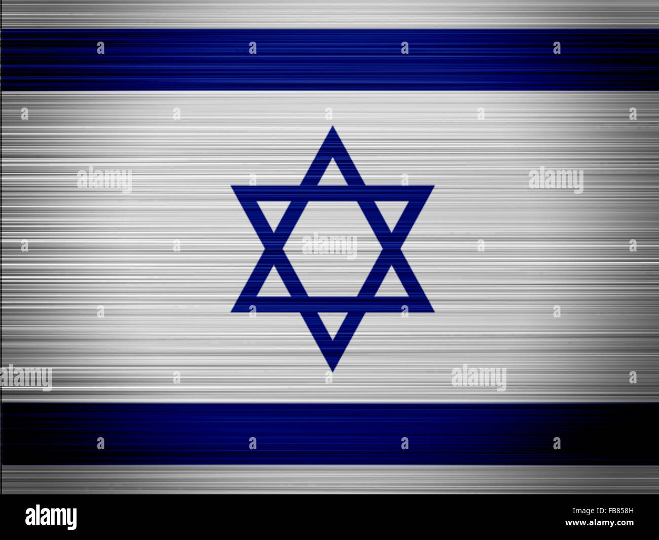Israel flag - Stock Image