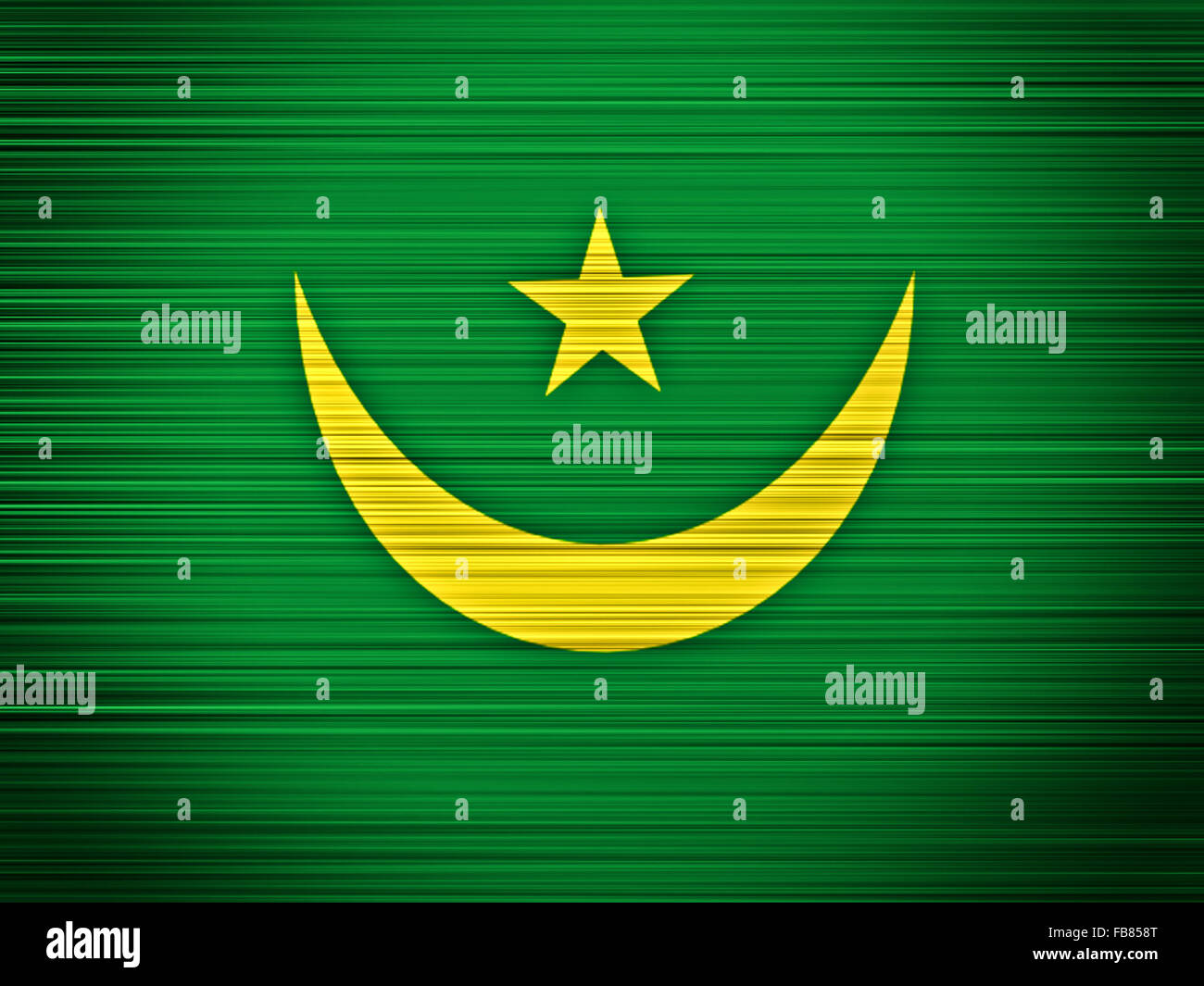 Mauritania flag abstract - Stock Image