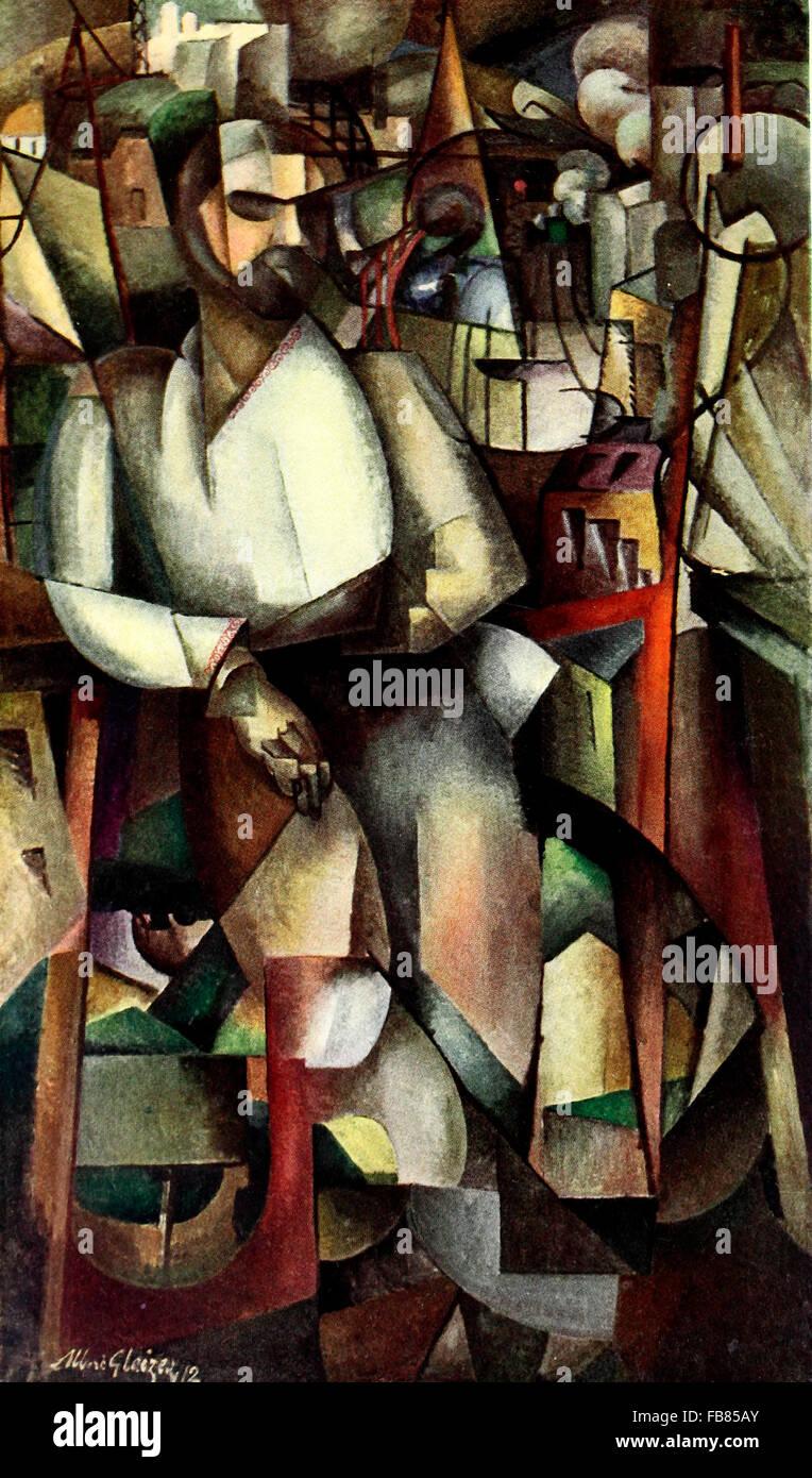 Man on Balcony - Albert Gleizes 1912 - Stock Image