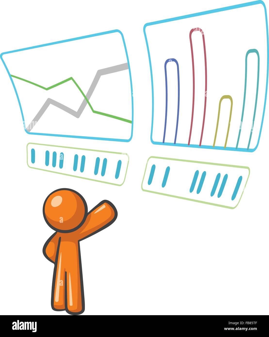 Orange Man tracking data and statistics. - Stock Image