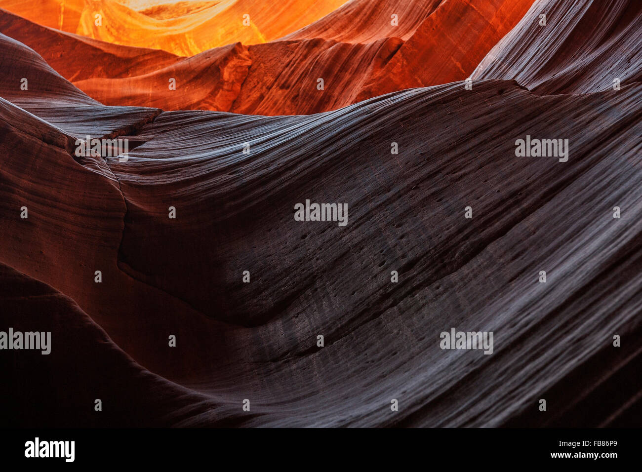 Sandstone formations in Upper Antelope Canyon, Slot Canyon, Page, Arizona, USA Stock Photo