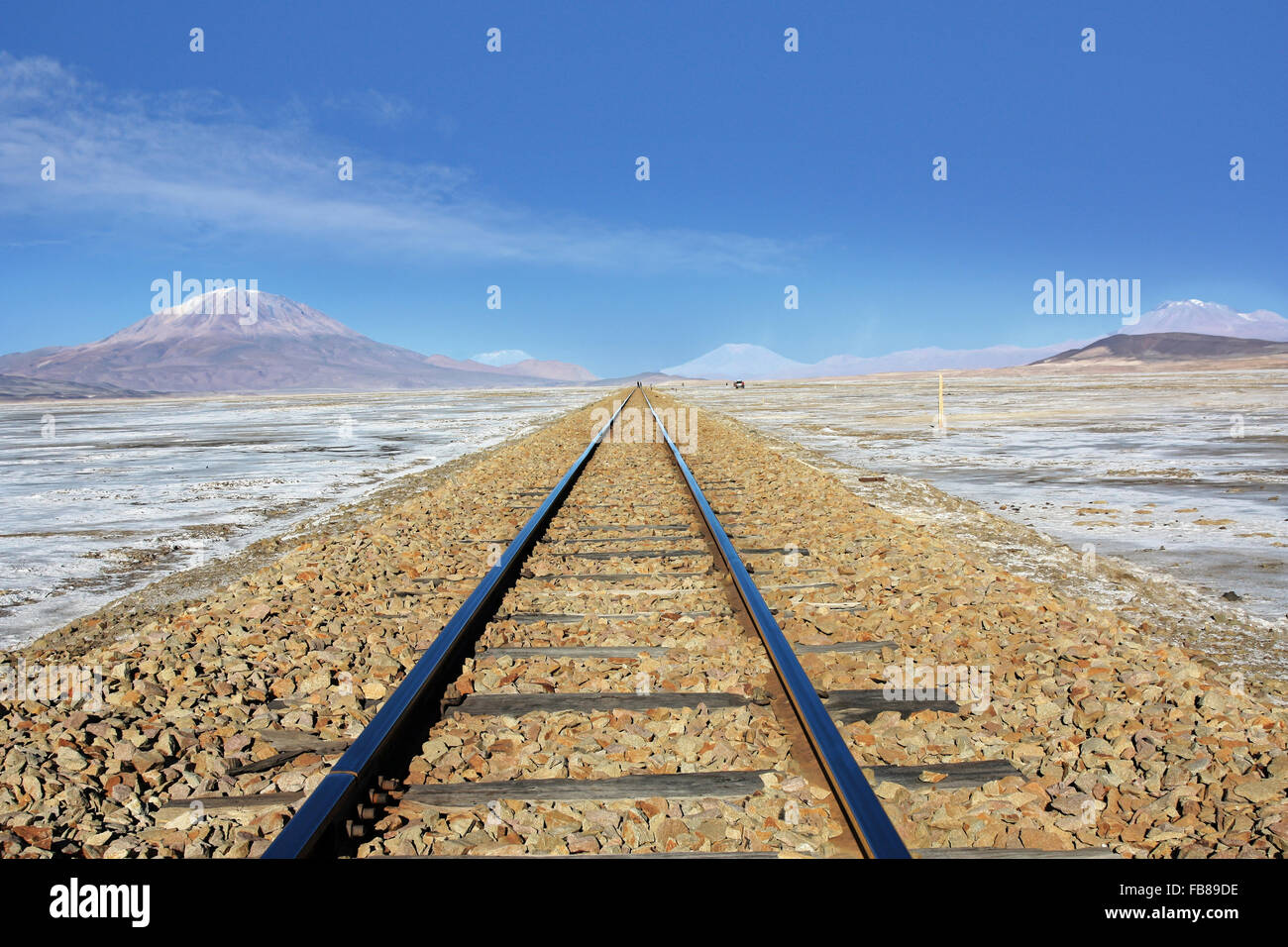 railway in Bolivia South America - Stock Image