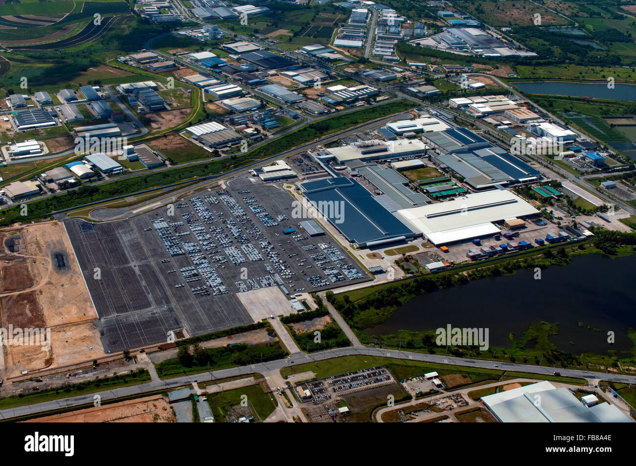 Industrial estate, heavy industry, manufacturer, auto manufacturer in Thailand - Stock Image