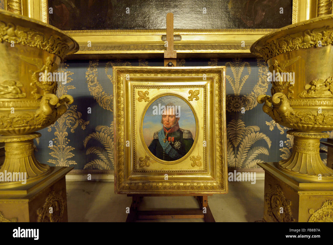 Ritratto di (Portrait of) Carlo Ferdinando d'Artois, Duca di Berry (Duke of Berry), Palazzo Reale, Napoli, Campania, - Stock Image