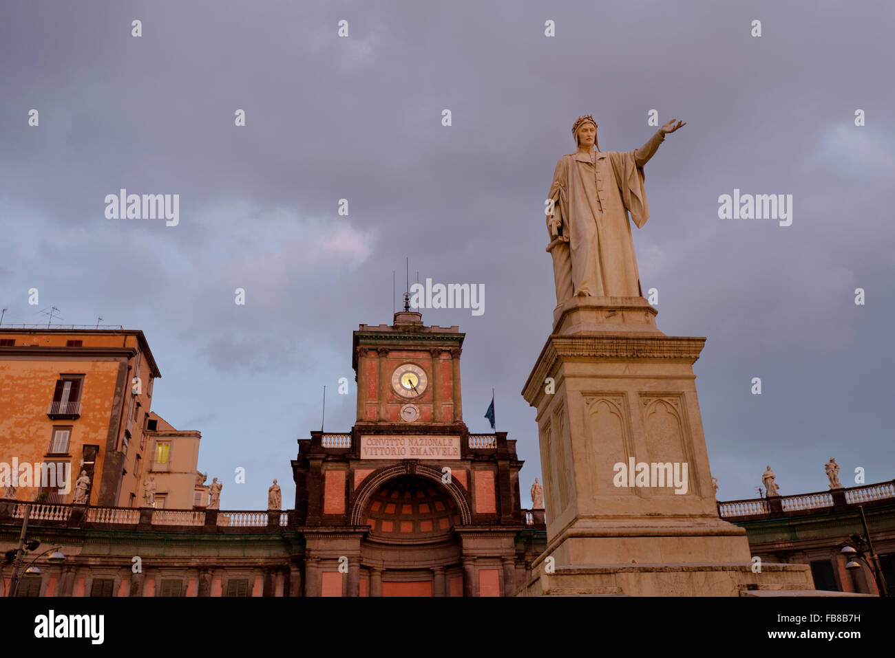 Piazza Dante, Quartiere San Giuseppe, Napoli, Campania, Italy - Stock Image