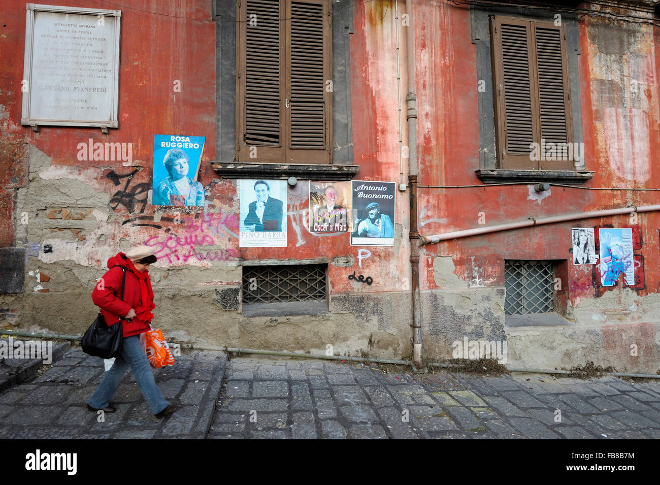 Via San Giuseppe dei Nudi, Quatiere Avvocata, Napoli, Campania, Italy - Stock Image