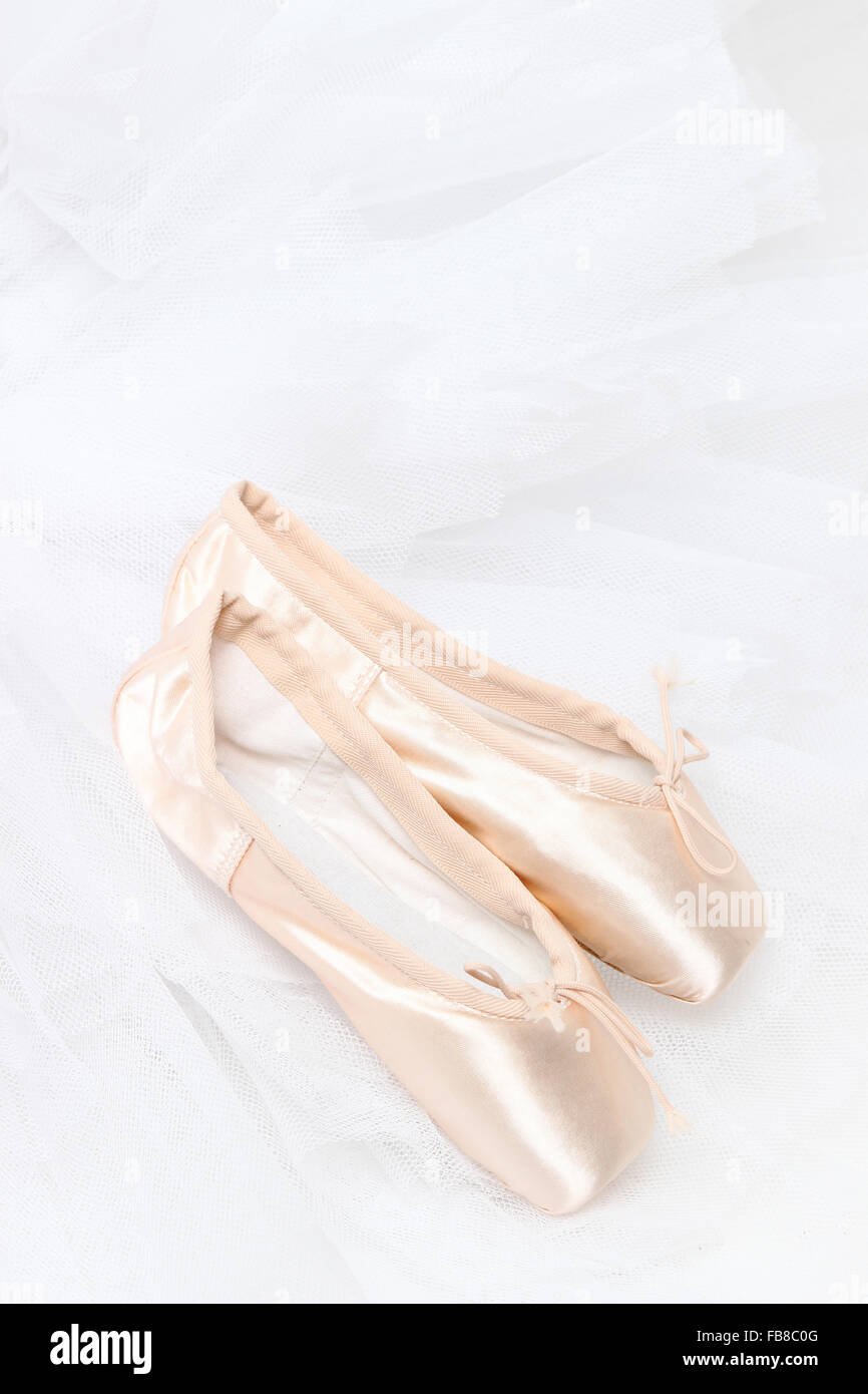 pointe shoes for ballerina - Stock Image