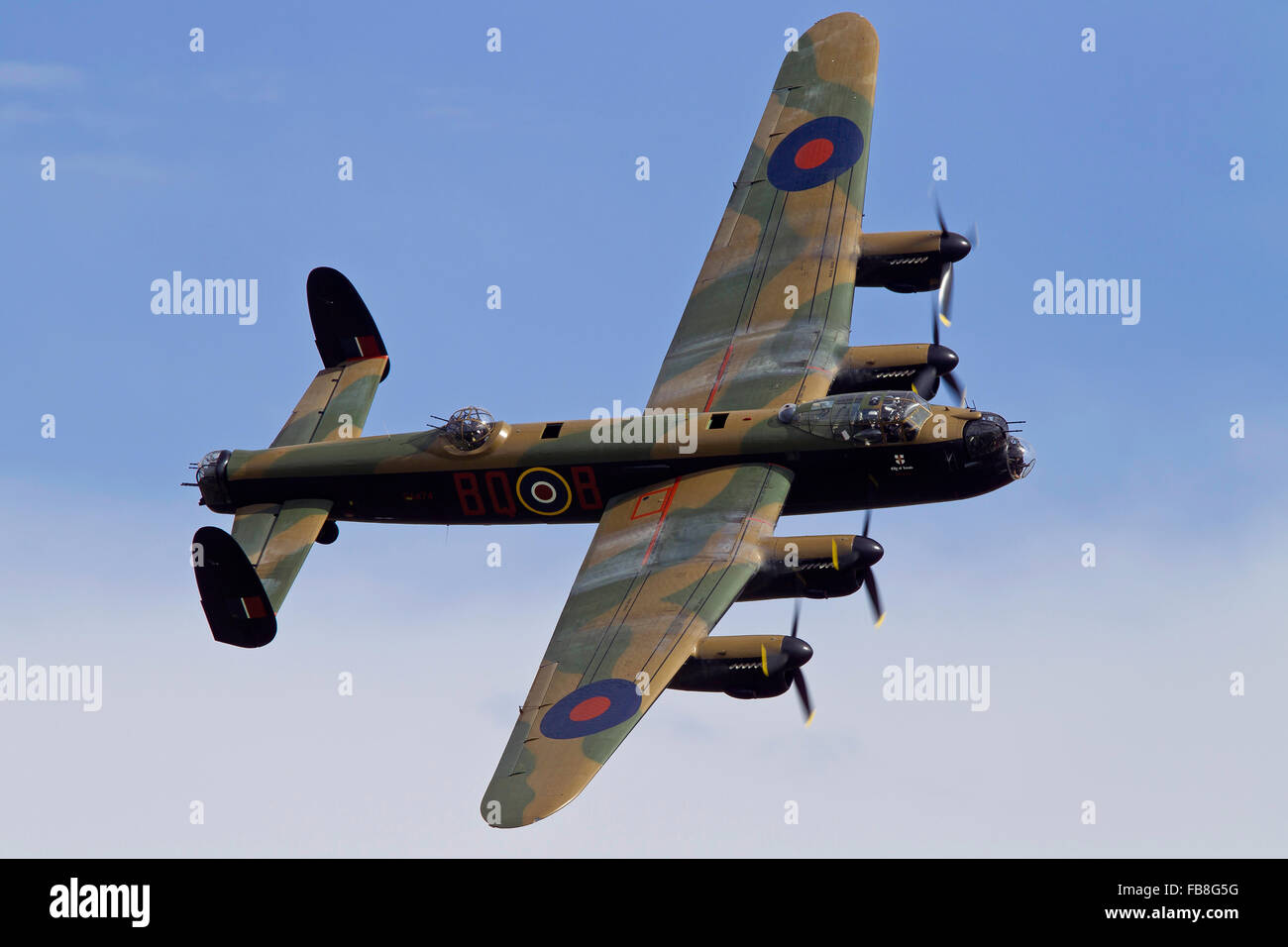 Avro Lancaster bomber in flight - Stock Image