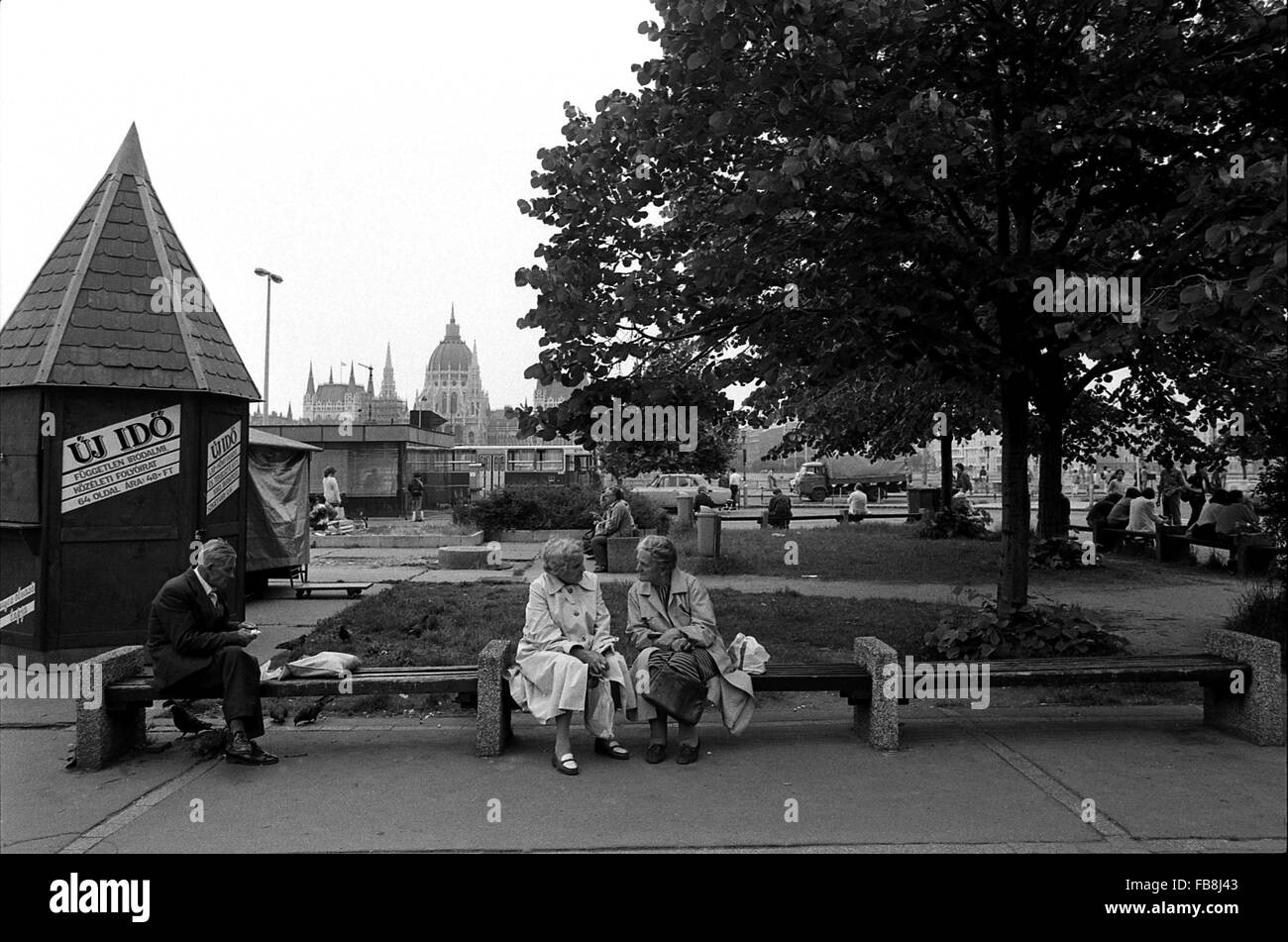 Glance on Bupapest at the time of the Nineties. -  1990  -  Hungary / Budapest  -  Glance on Bupapest at the time Stock Photo