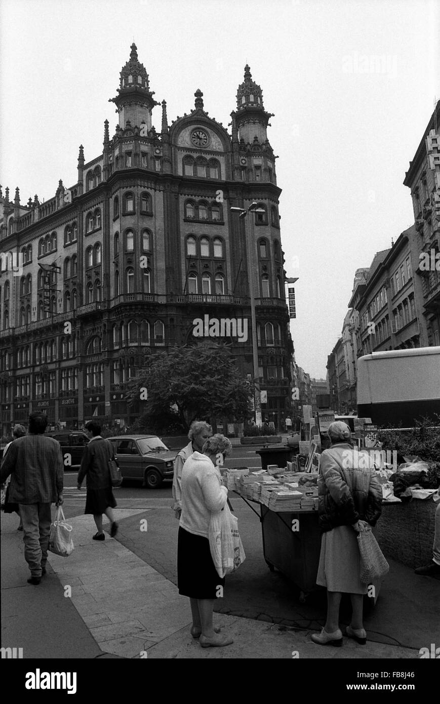 Glance on Bupapest at the time of the Nineties. -  1990  -  Hungary / Budapest  -  Glance on Bupapest at the time - Stock Image