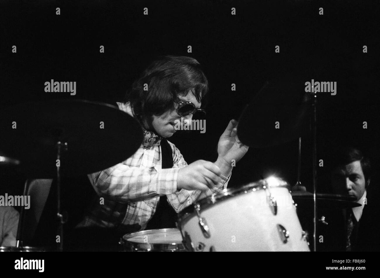 Jacques Thollot -  1970  -  France  -  Jacques Thollot, jazz drums player, concert in 1970   -  Philippe Gras / - Stock Image
