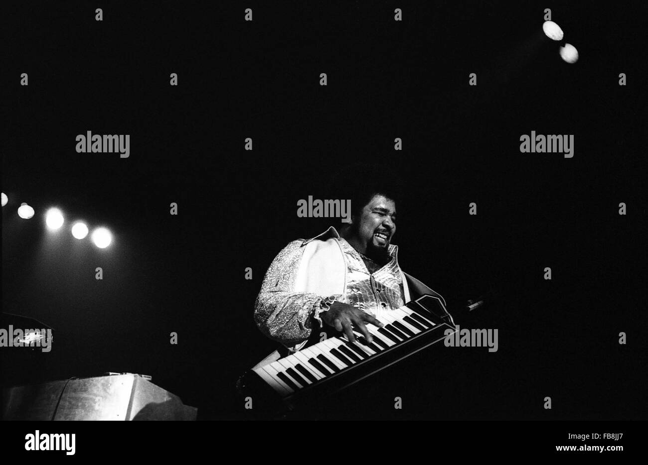 George Duke in concert in 1979 -  1979  -    -  George Duke in concert in 1979. He died on August 5th 2013   -  - Stock Image