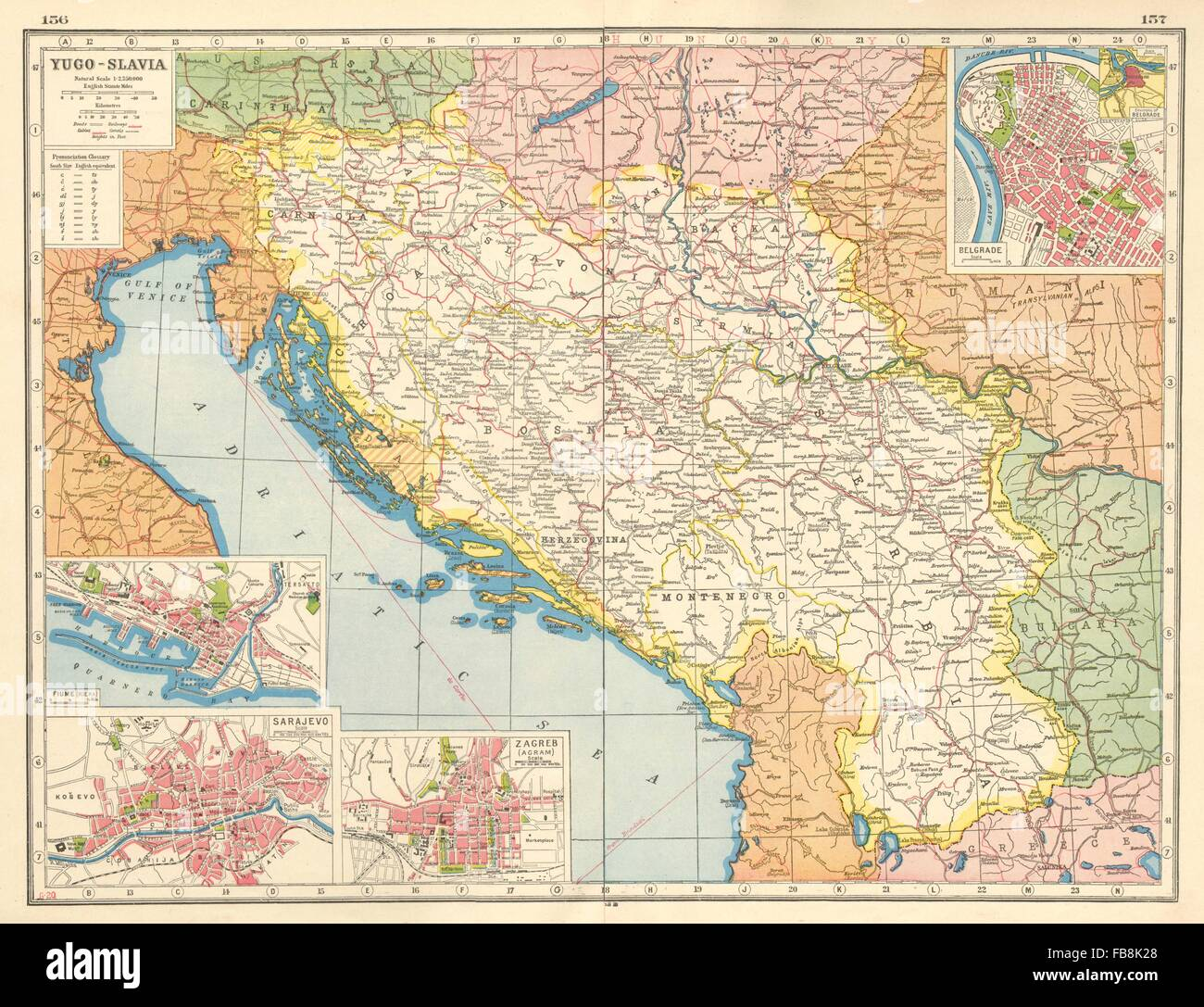 Cartina Jugoslavia.Yugoslavia Map High Resolution Stock Photography And Images Alamy
