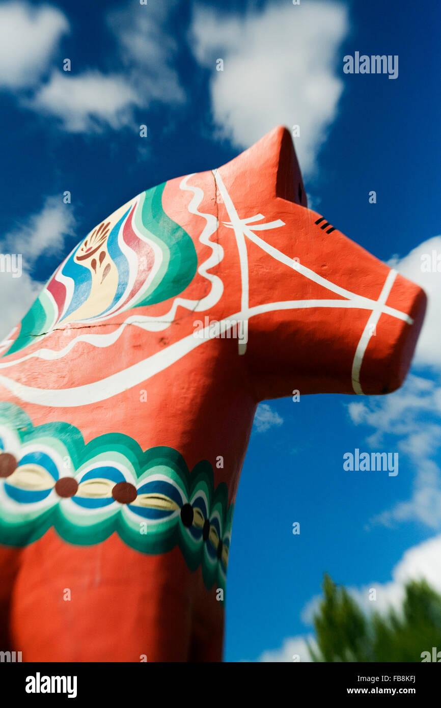 Sweden, Dalarna, Avesta, Dalecarlian Horse - Stock Image