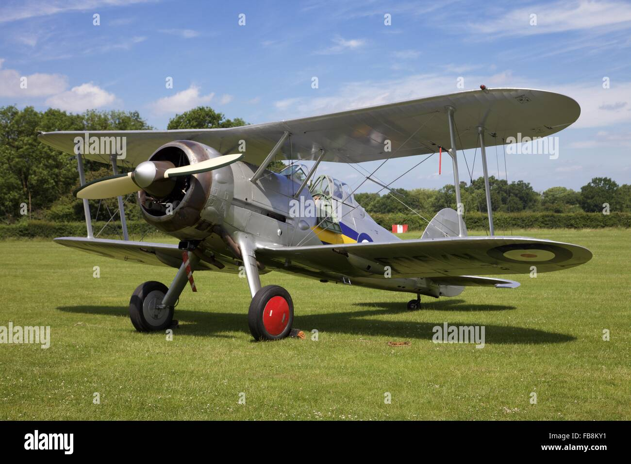 A 1935 Hawker Hind light bomber - Stock Image