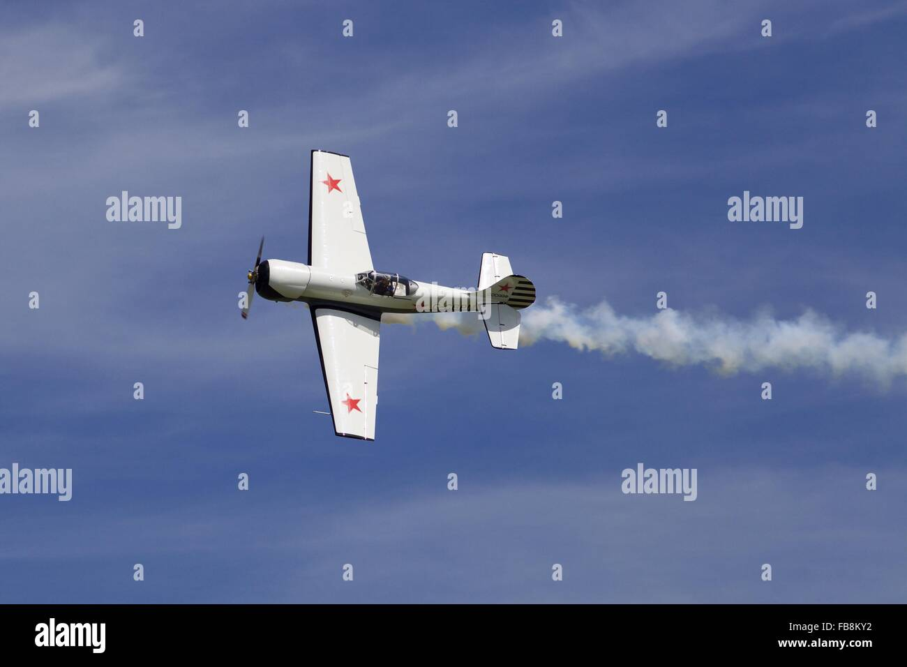 A Russian Yakovlev Yak-50 airplane, built 1949 as experimental turbojet, England - Stock Image