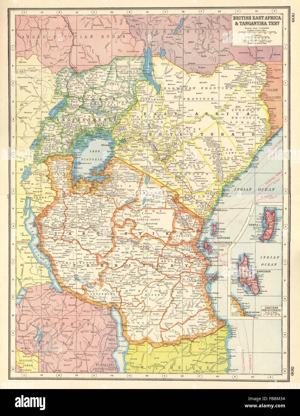 EAST AFRICA British EA Tanganyika TerrKenya Tanzania Zanzibar