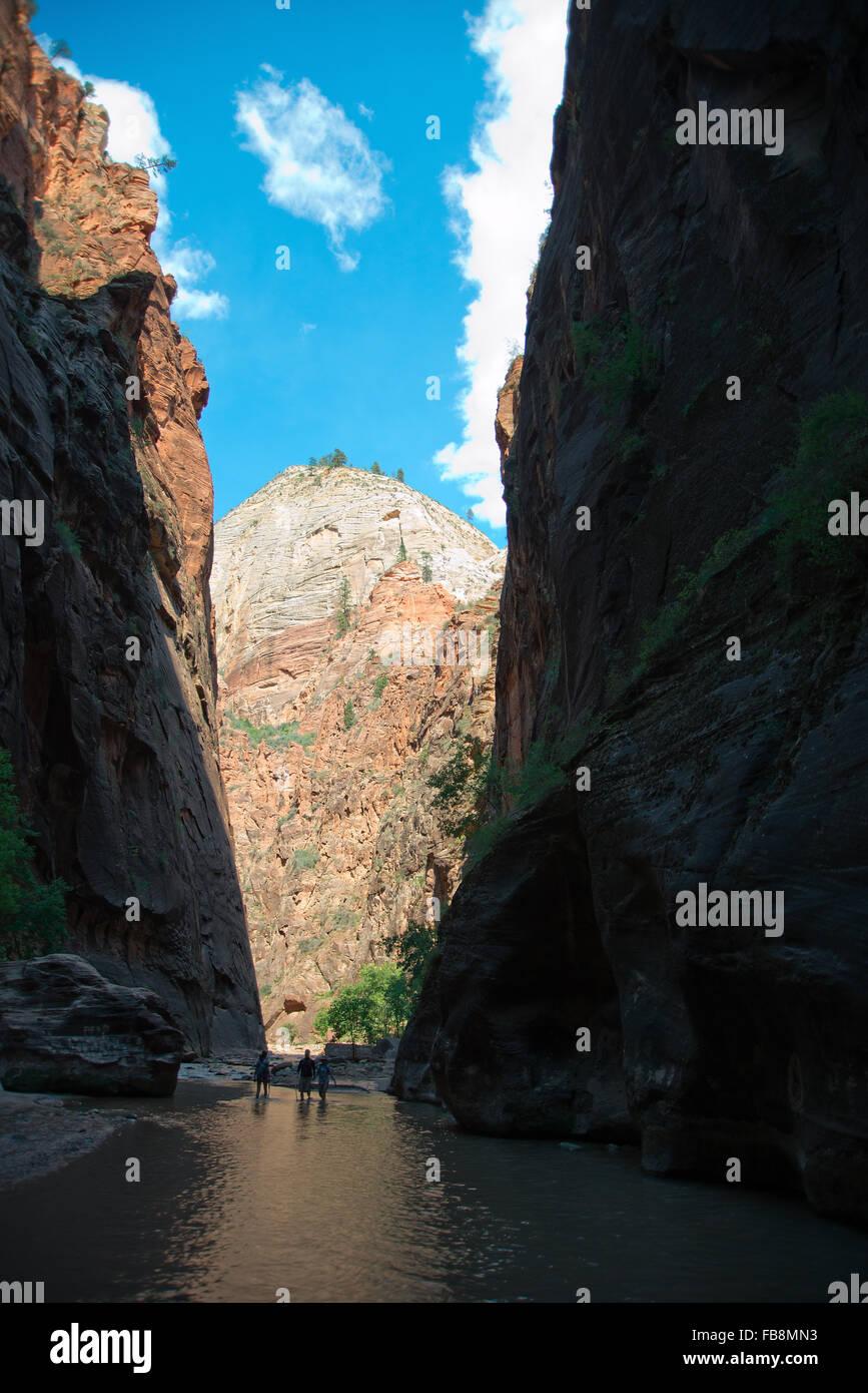 Narrow at Virgin River 2, Utah - Stock Image